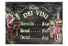 Vino and Grapes Chalkboard Menu