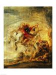 Bellerophon Riding Pegasus Fighting the Chimaera