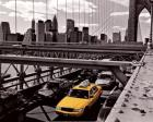 Yellow Cab on Brooklyn Bridge