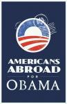 Barack Obama - (Americans Abroad for Obama) Campaign Poster