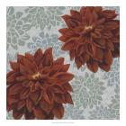 Woodblock Dahlias I