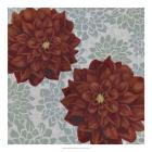 Woodblock Dahlias II