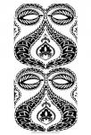 B&W Arabesque Panels I