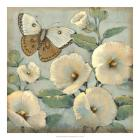 Butterfly & Hollyhocks II