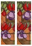 2-Up Stain Glass Floral III