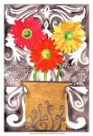3 Tin Flowers