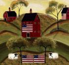 4th July Sheep Red Barns