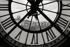 Big Clock Horizontal Black and White
