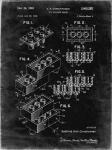 Toy Building Brick Patent - Black grunge