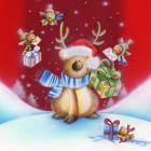 Birds Bearing Deer Christmas Gifts