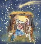 Christmas Manger and Shooting Stars