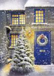 Blue Door and White Christmas