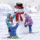 Children Making Snowman