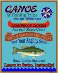 Canoe Fishing Wilderness