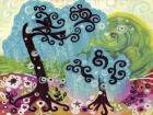 Blue Weeping Willow Whimsy I
