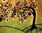 Black And Cream Tree Swirl