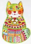 Green Folk Cat 1