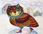 Winter Owl Cat