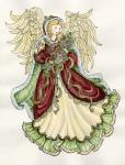 Angel With Roses