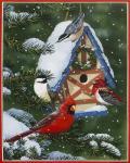Birds At Feeder (Winter)