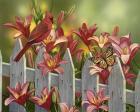 Cardinal and Lilies