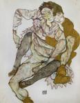 Seated Couple (Egon Und Edith Schiele), 1915