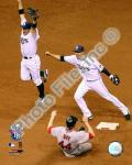 Akinori Iwamura & Jason Bartlett celebrate the final out Game 7 of the 2008 ALCS