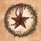 Barn Star with Round Wreath