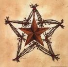 Barn Star with Star Wreath