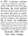 Be Genuine 1