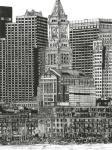 B&W Us Cityscape-Boston