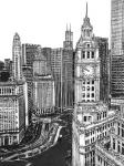 B&W Us Cityscape-Chicago