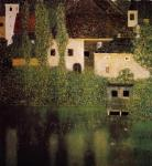 Unterach Manor and Lock Chamber on the Attersee Lake, c.1908