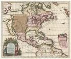 1698 Louis Hennepin Map of North America