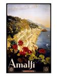 Amalfi, travel poster