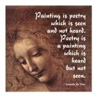 Painting is Poetry -Da Vinci Quote