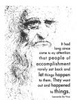 People of Accomplishment -Da Vinci Quote