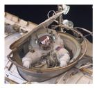Astronaut Drew Feustel Re-enters the Space Station