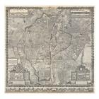 1652 Gomboust Map of Paris, France