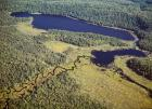 Aerial view of a lake, Algonquin Provincial Park, Ontario, Canada