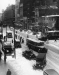 Snowy Philadelphia City Street In Winter