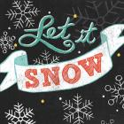 Let it Snow Black Sq