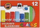 KŘÍDA na černé tabule, 12 barev