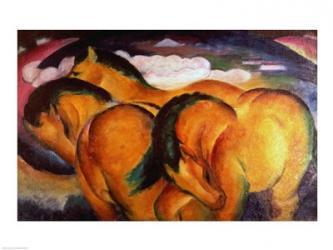 Little Yellow Horses, 1912 | Obraz na stenu