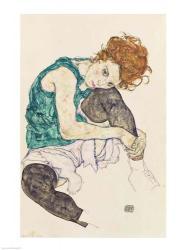 Seated Woman with Bent Knee, 1917 | Obraz na stenu