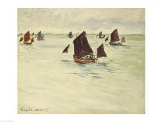 Fishing Boats on the Large de Pourville, 1882 | Obraz na stenu
