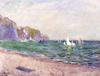 Boats below the Cliffs at Pourville, 1882