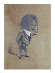 Caricature of Jules Husson 'Champfleury'