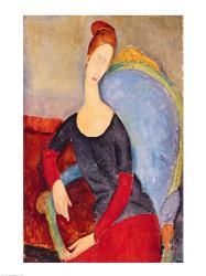 Mme Hebuterne in a Blue Chair, 1918 | Obraz na stenu