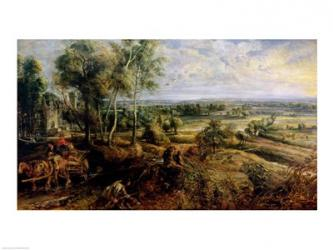 An Autumn Landscape with a view of Het Steen in the Early Morning | Obraz na stenu